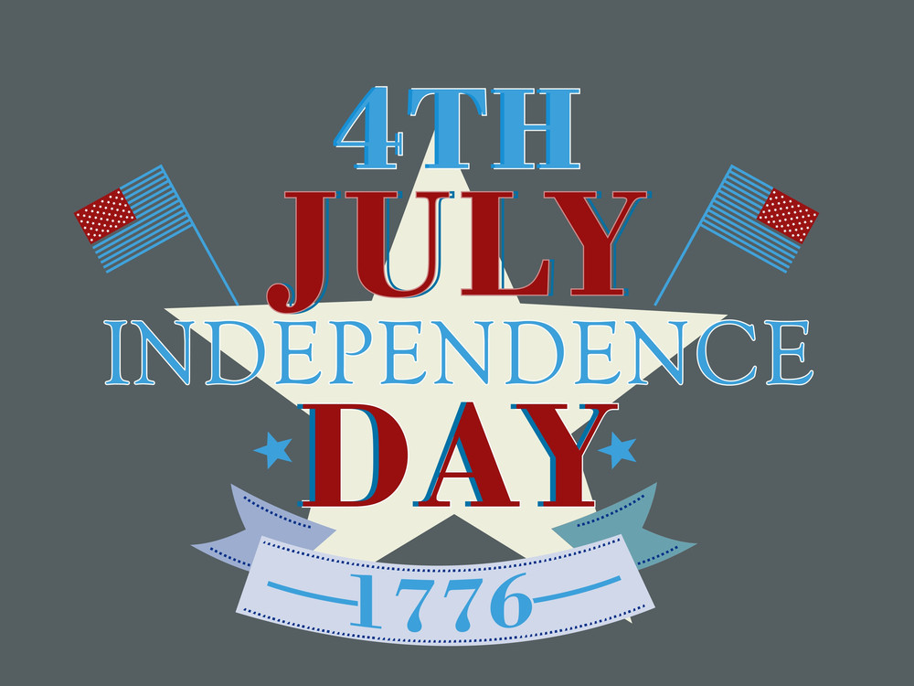 Abstract Grungy Background In American Flag Color For 4th Of July American Independence Day And Other Occasions Or Events With Stylish Text.