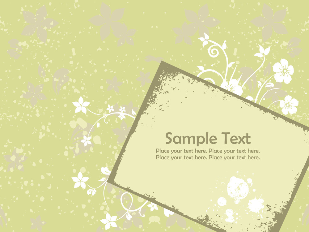 Abstract Grungy Floral Pattern Background