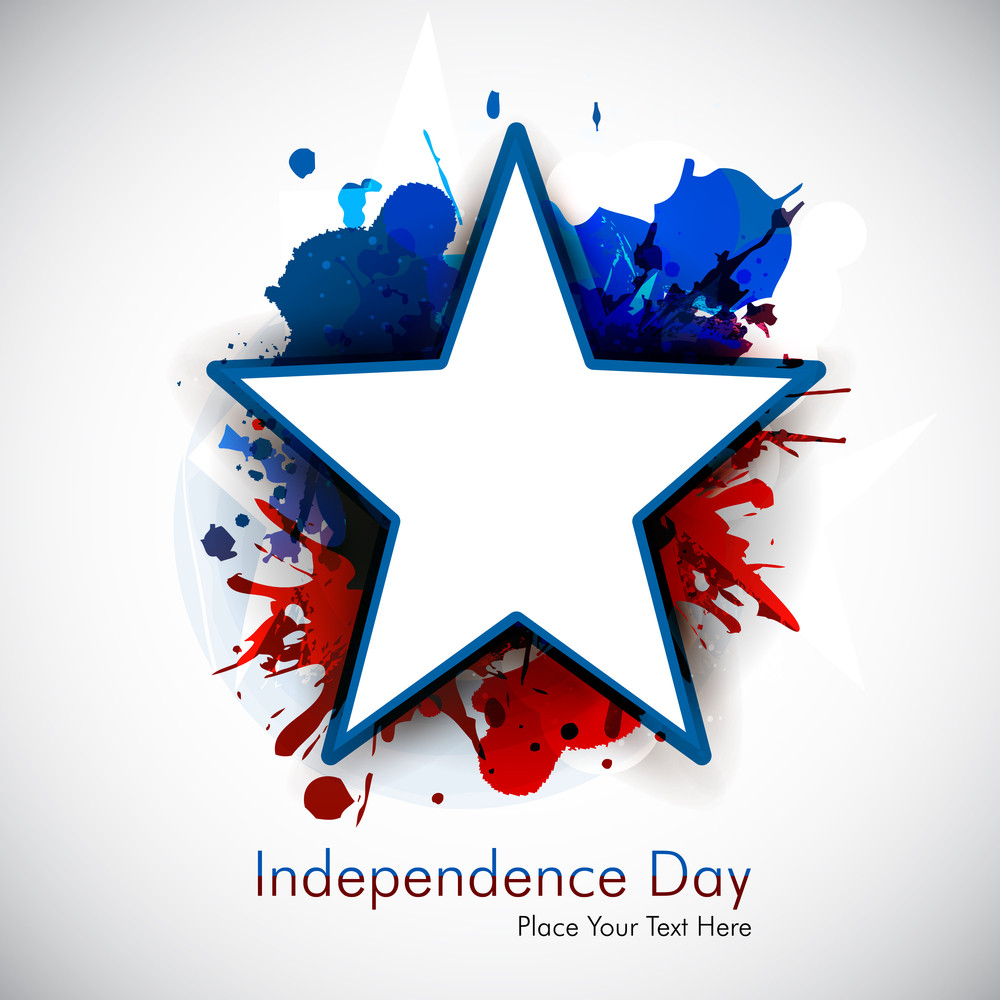 Abstract Grungy Star For 4th Of July.