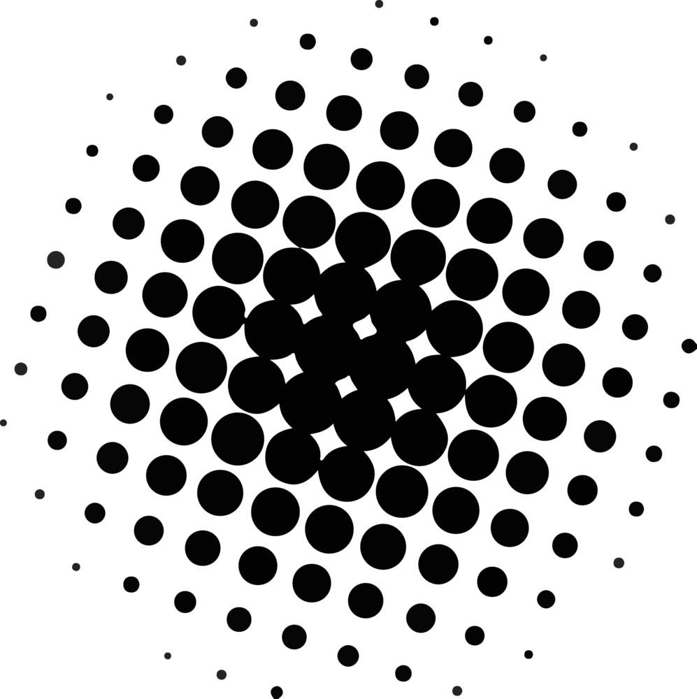 Abstract Halftone Circle