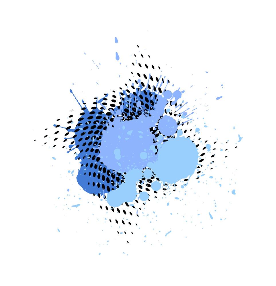 Abstract Halftone Splatter Vector