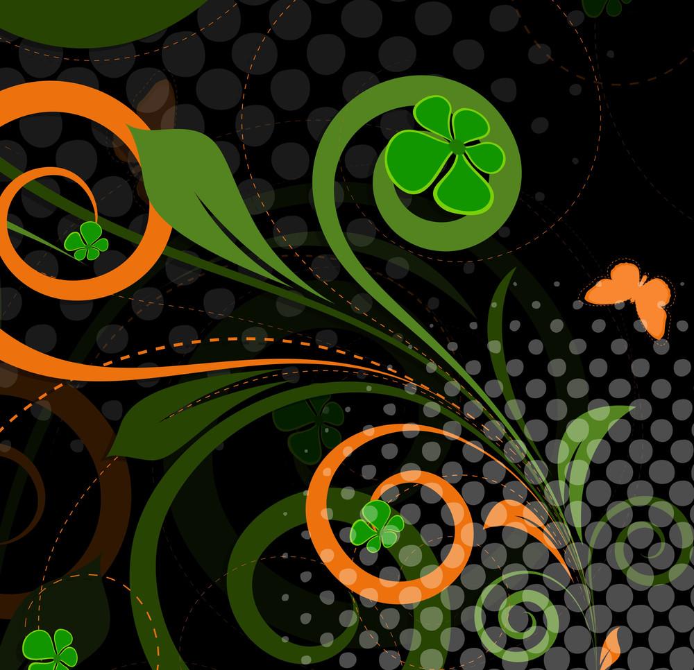 Abstract Halftone Swirl Designs