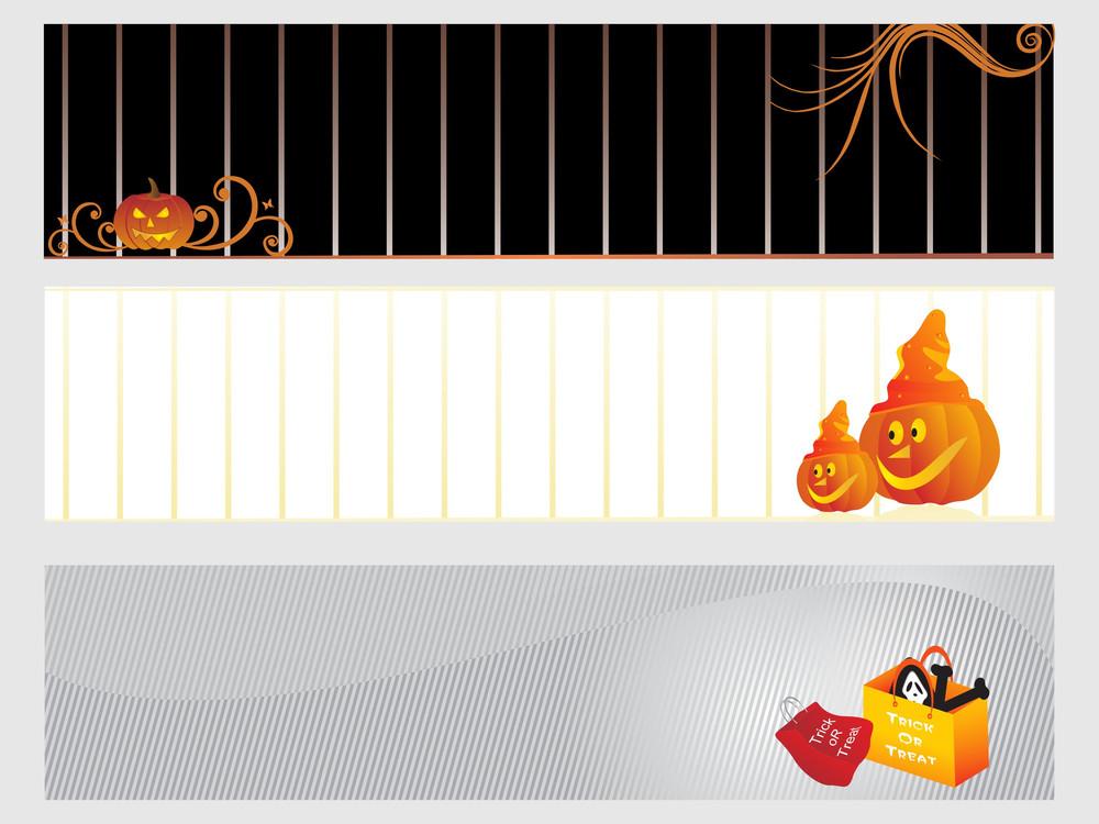 Abstract Halloween Banner Series Set1