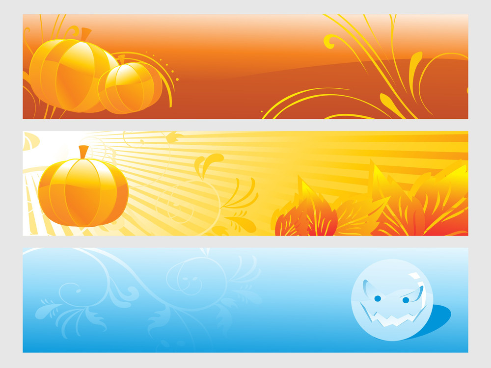 Abstract Halloween Banner Series Set26