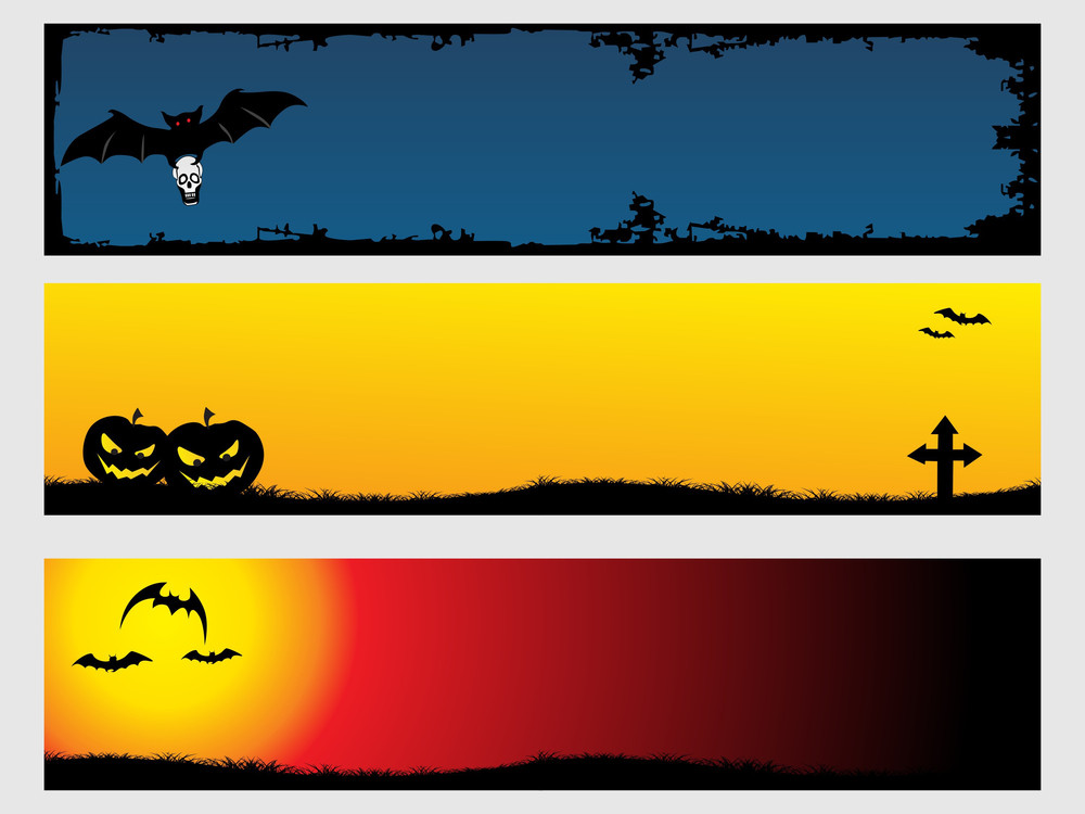 Abstract Halloween Banner Series Set3