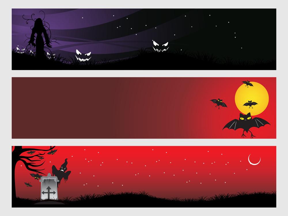 Abstract Halloween Banner Series Set7