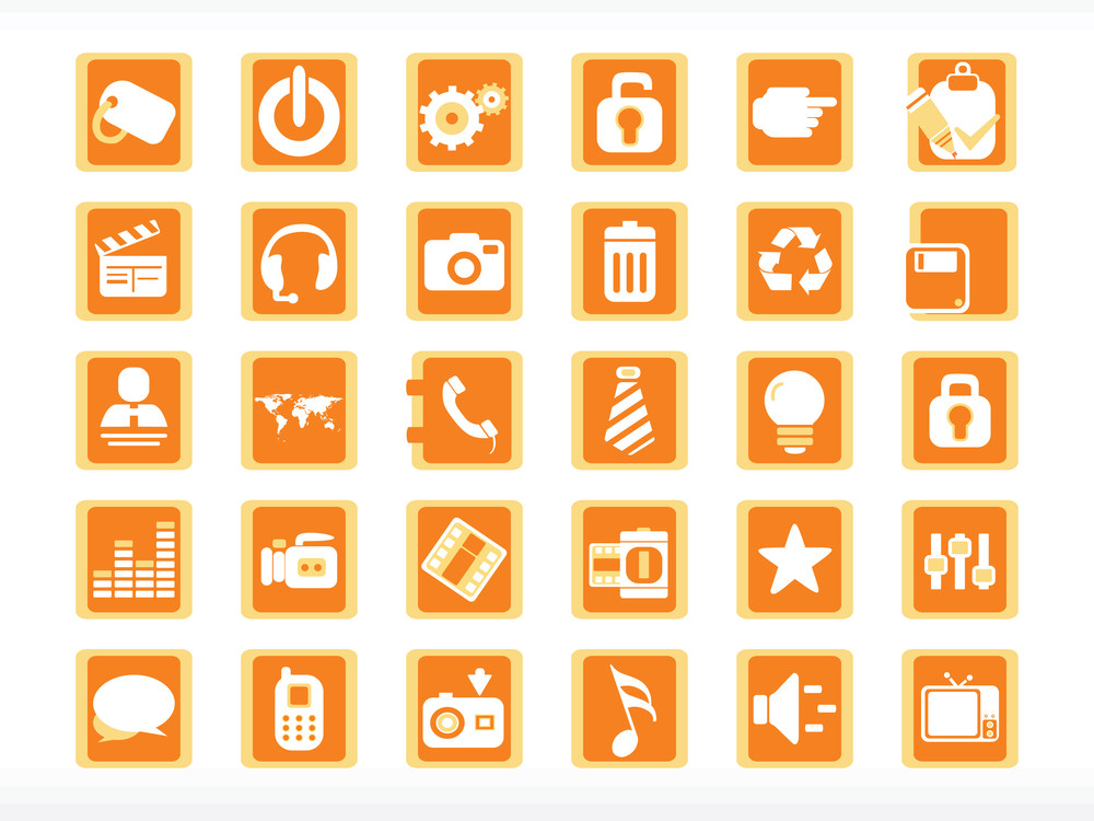 Abstract Halloween Icons Set Series