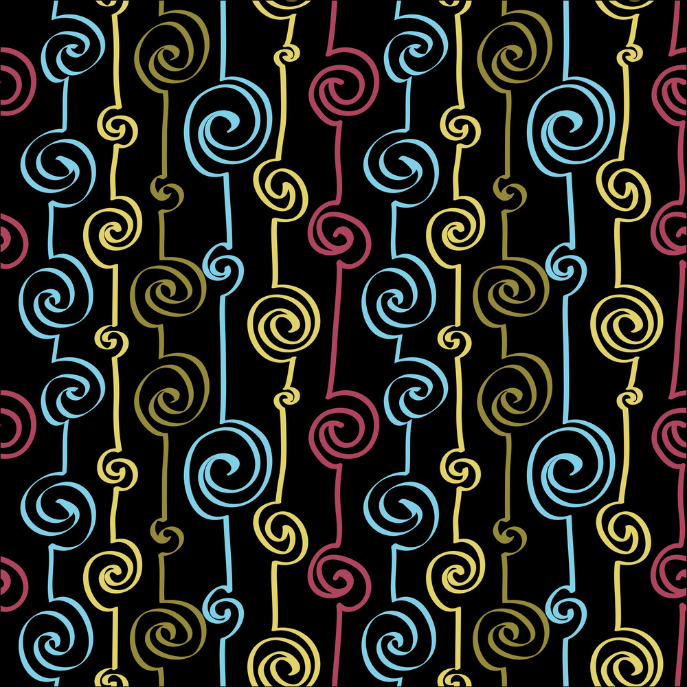 Abstract Hand-draw Seamless Pattern.