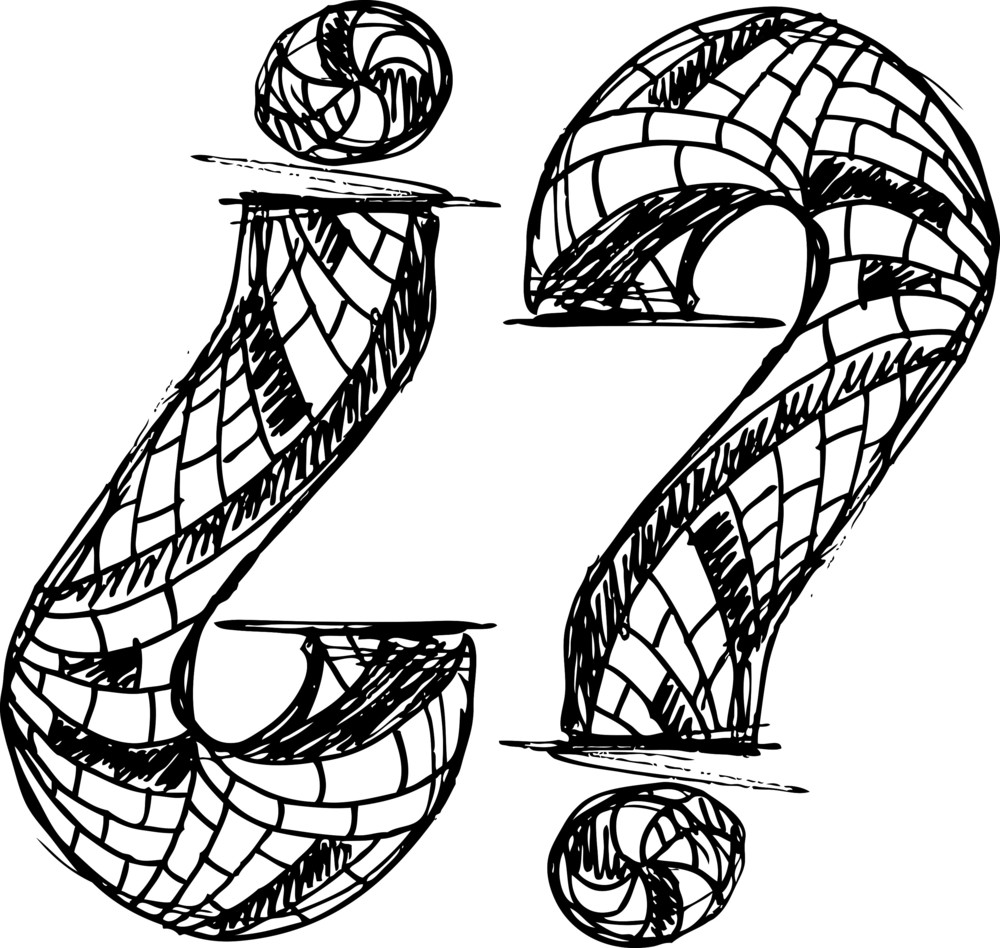 Abstract Hand Drawn Question Mark Symbol