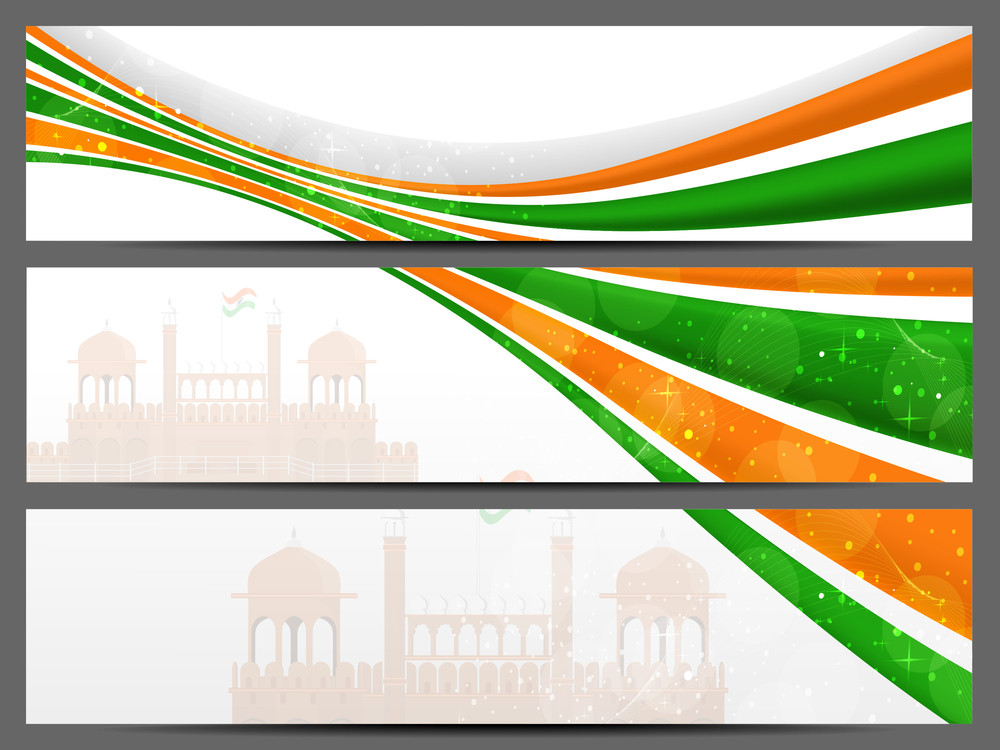 Abstract Header For Independence Day & Republic Day.