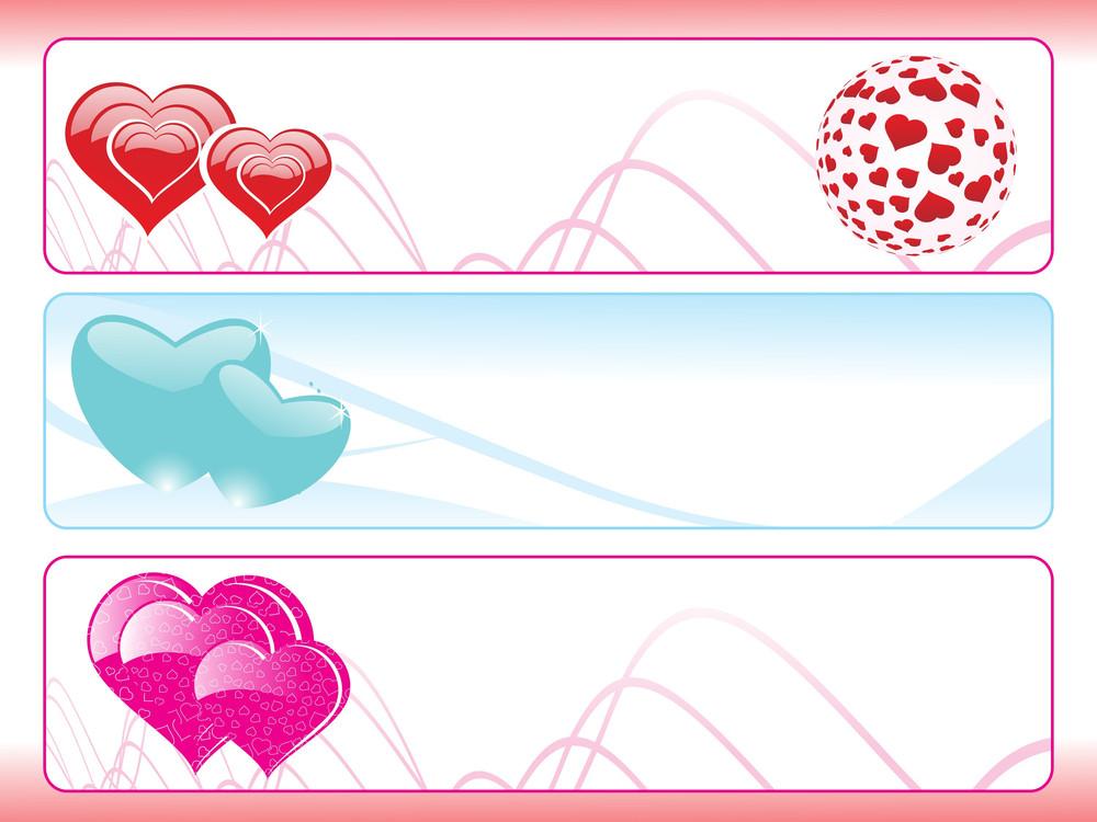 Abstract Heart Shape Banner