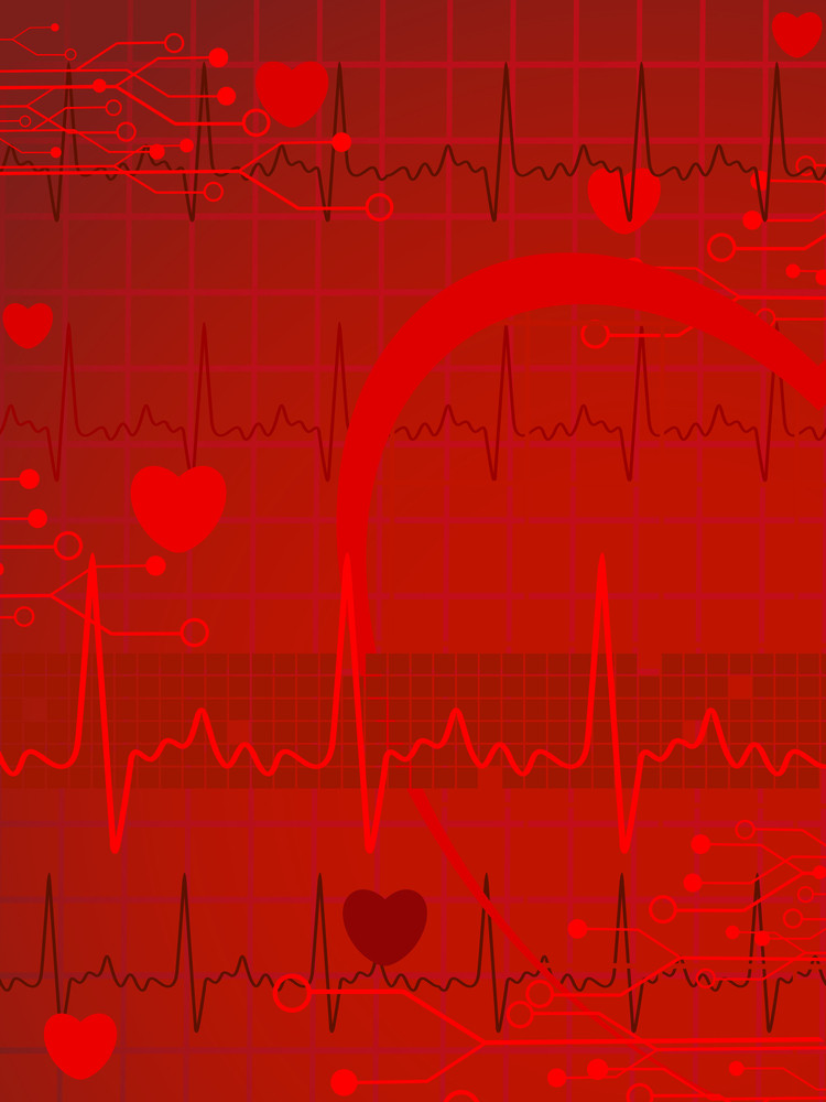 Abstract Heartbeat Concept Background