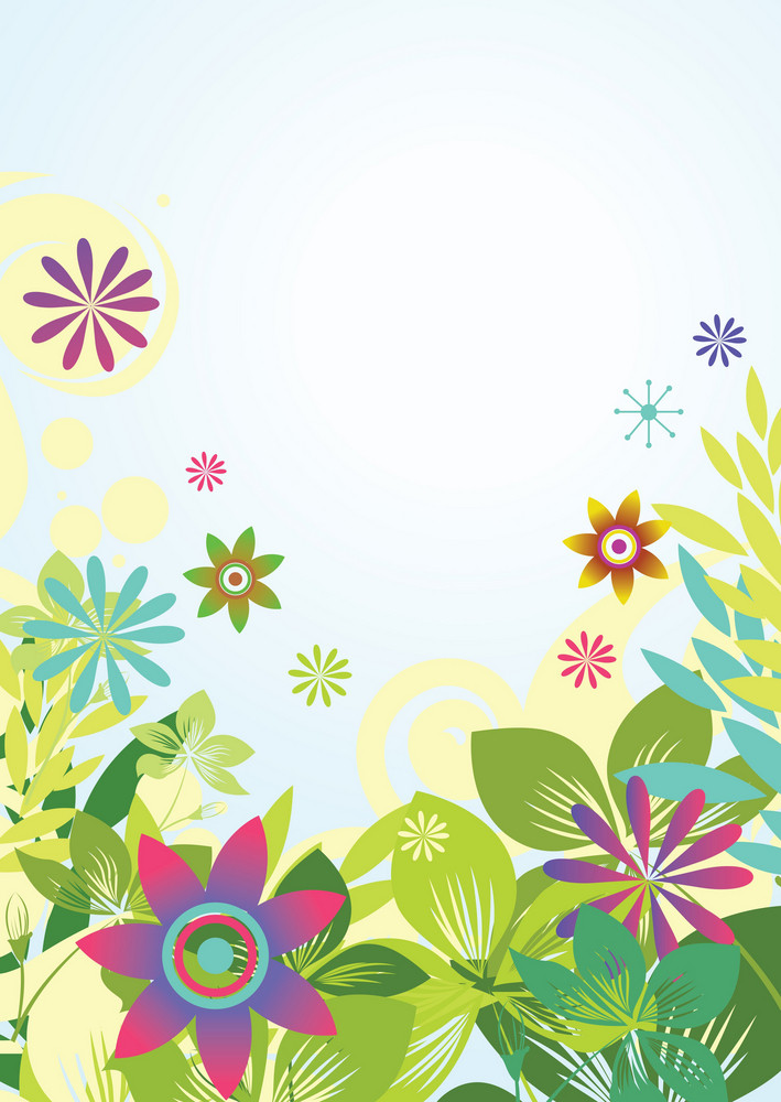 Abstract Illustration Of A Background With Floral