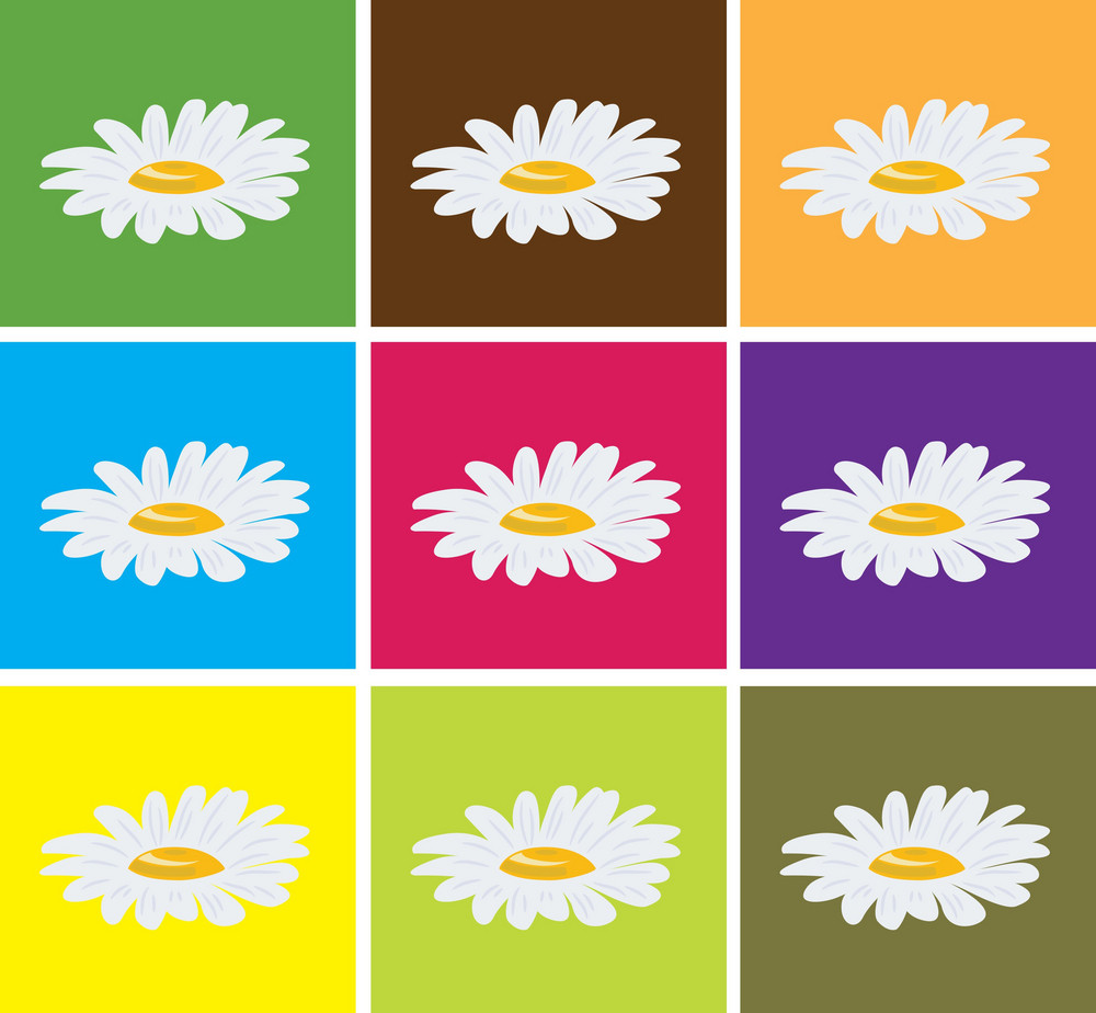 Abstract Illustration Of A Background With Flowers