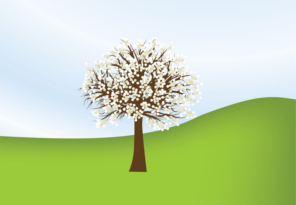 Abstract Illustration Of A Background With Tree