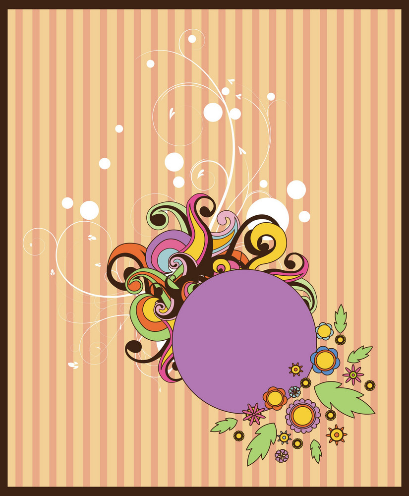 Abstract Illustration Of A Frame With Floral