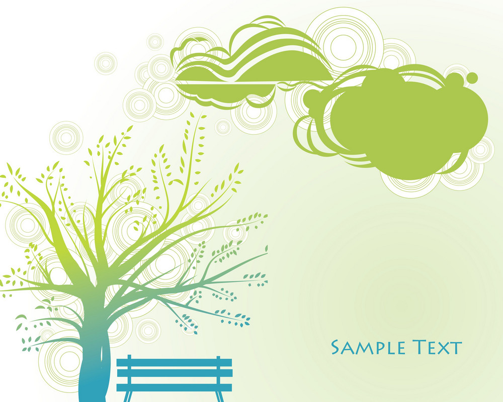 Abstract Illustration Of A Spring Background