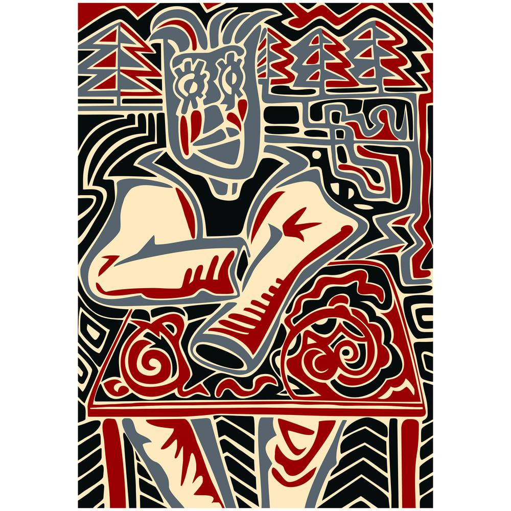 Abstract Illustration Of Man.