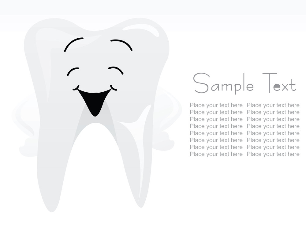 Abstract Illustration Of Teeth Background