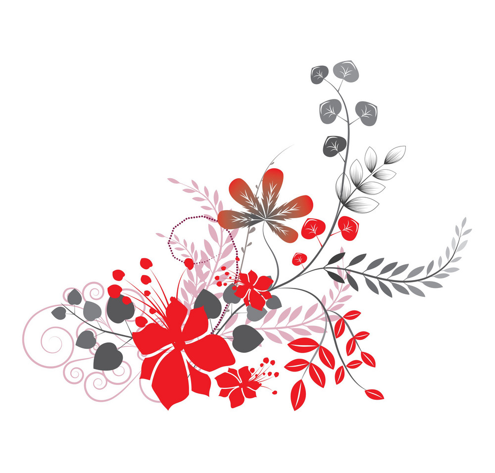 Abstract Illustration With Circles And Beautiful Floral