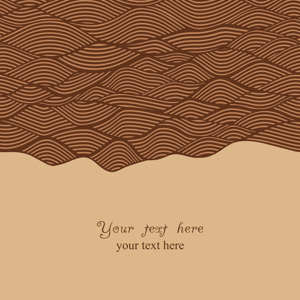 Abstract Invitation Card In Chocolate Theme. Template Frame Design For Card.