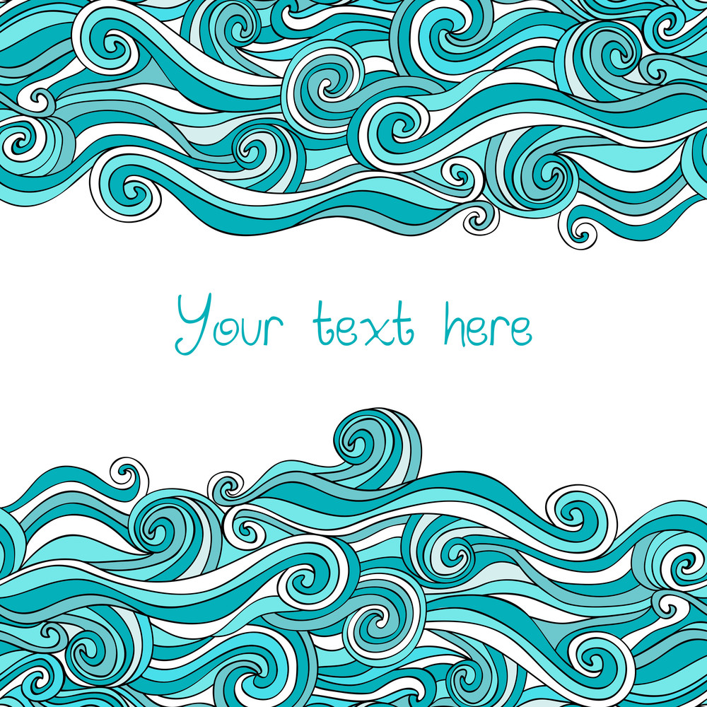 Abstract Invitation Card. Template Frame Design For Card.
