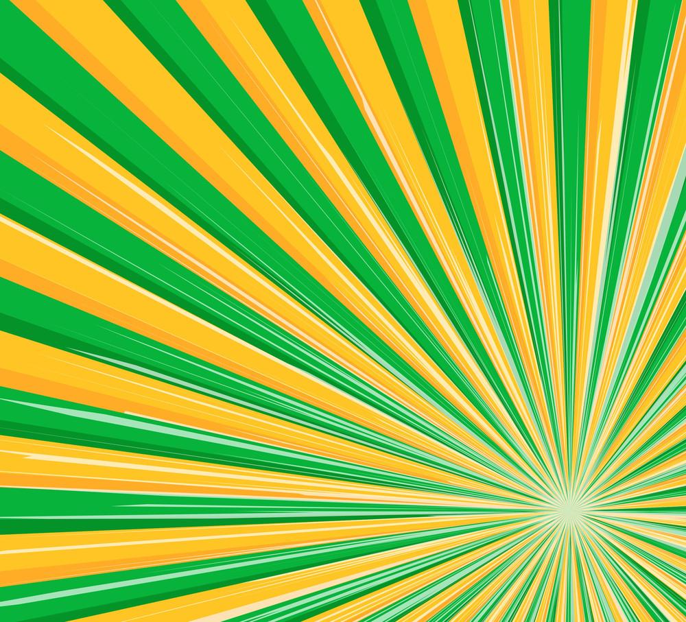 Abstract Lines Sunburst