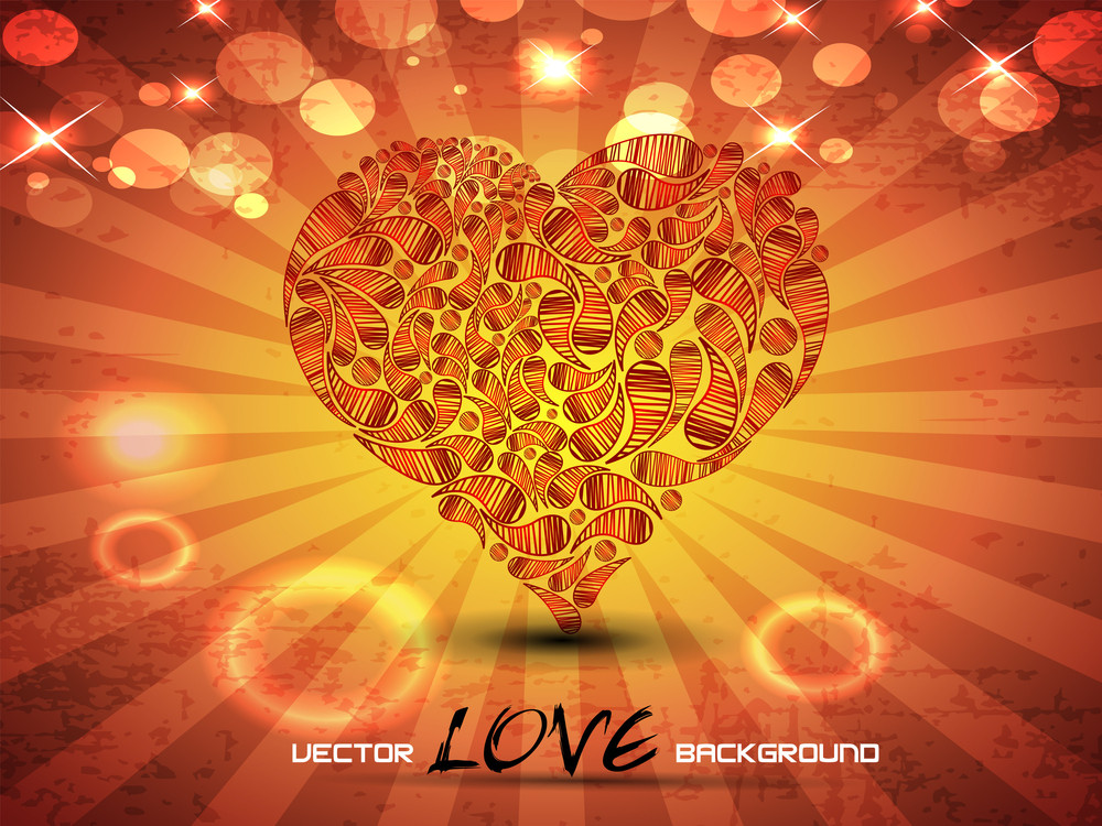 Abstract Love Background.