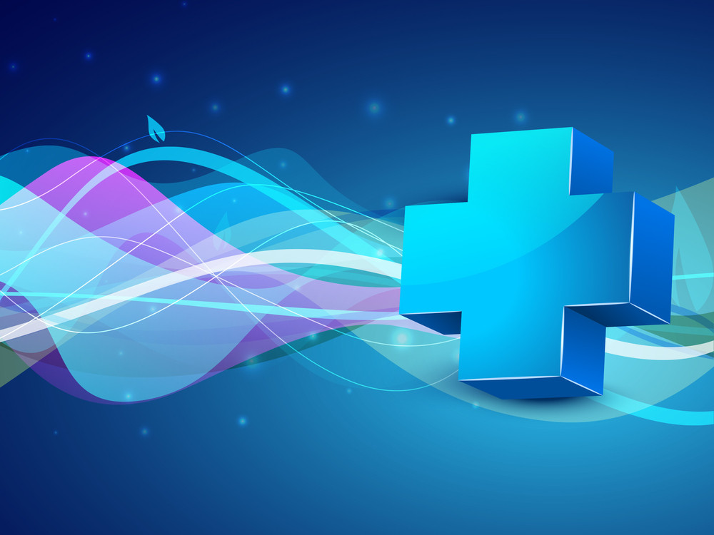 Abstract Medical Background With Capsules