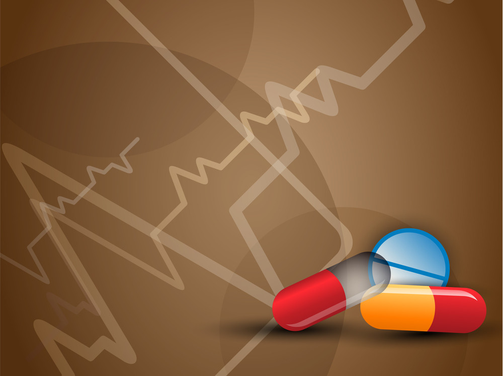 Abstract Medical Background With  Herbal Capsule.