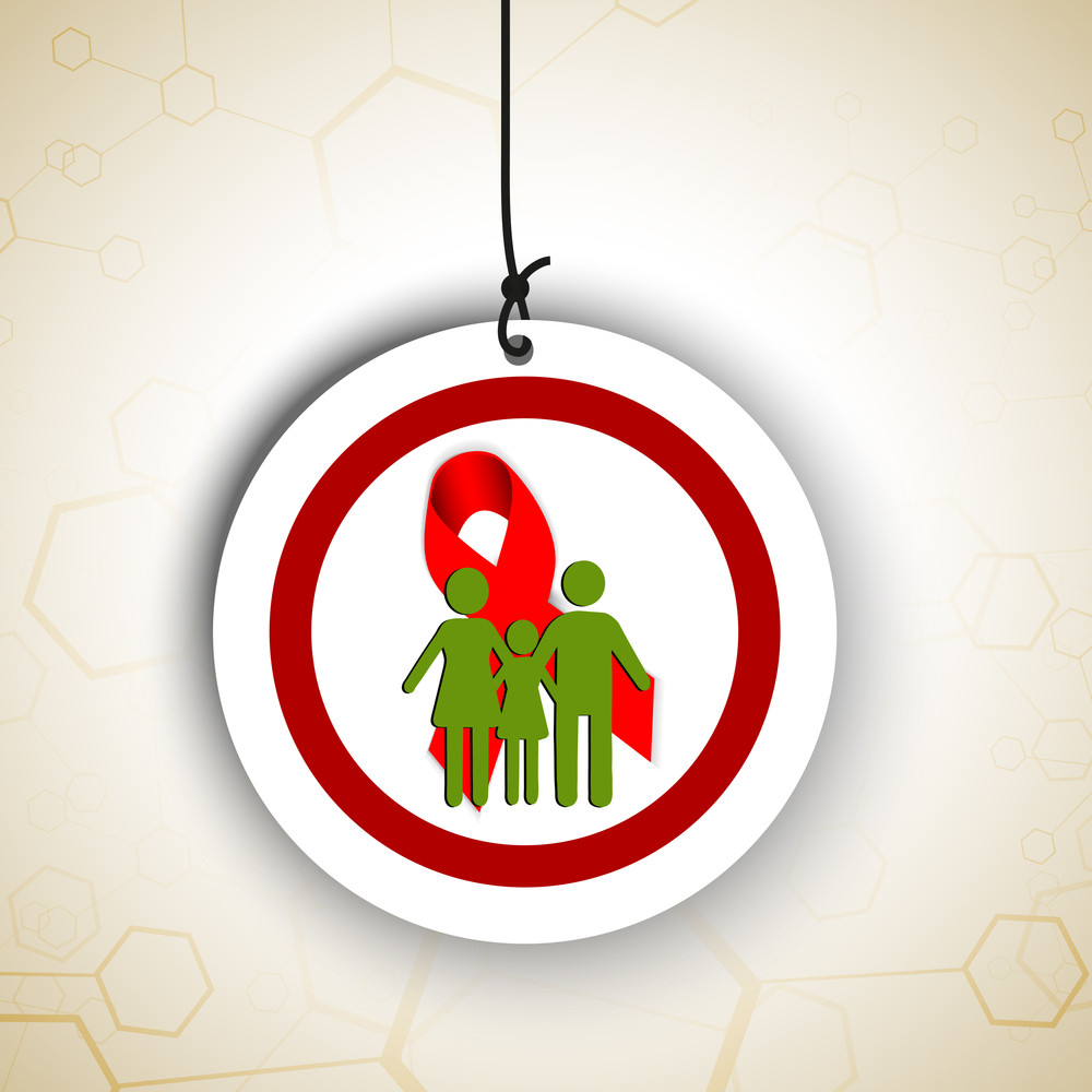 Abstract Medical Concept With Hanging Sticker