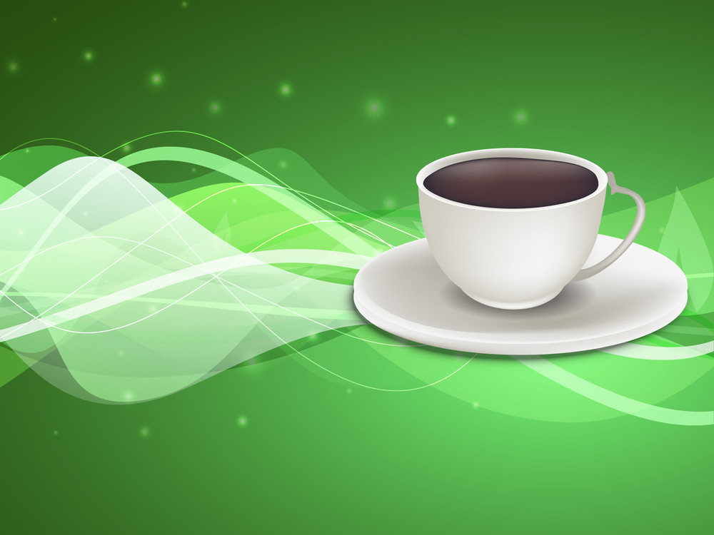Abstract Medical Concept With Natural Tea On Shiny Green Background.