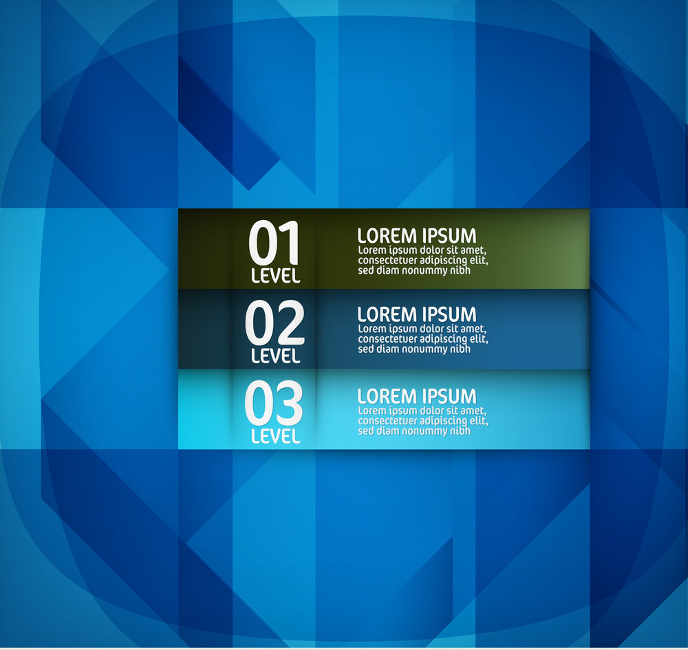 Abstract Modern Blue Design Layout