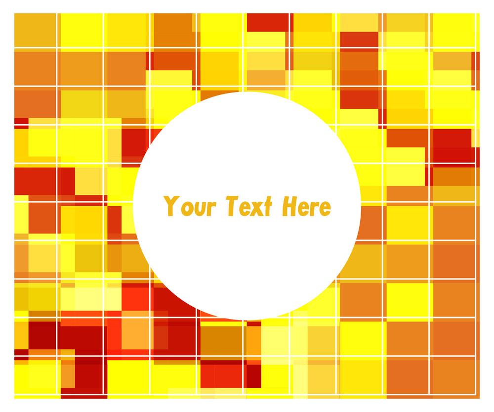 Abstract Mosaic Circle Banner