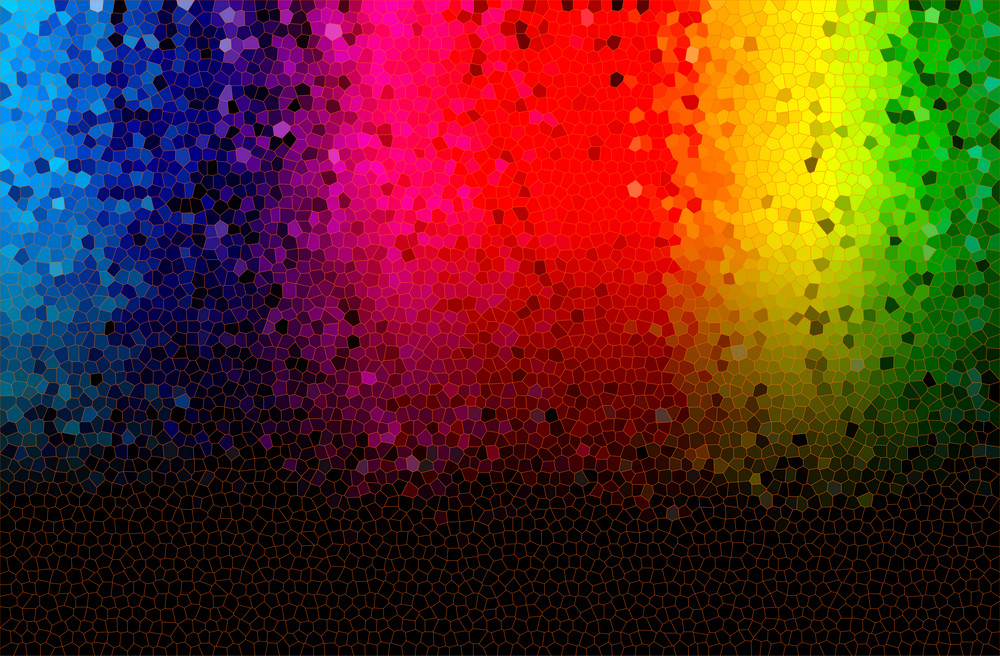 abstract mosiac glass spectrum glowing background.