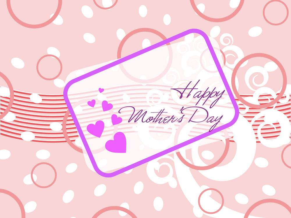 Abstract Mother Day Concept Illustration