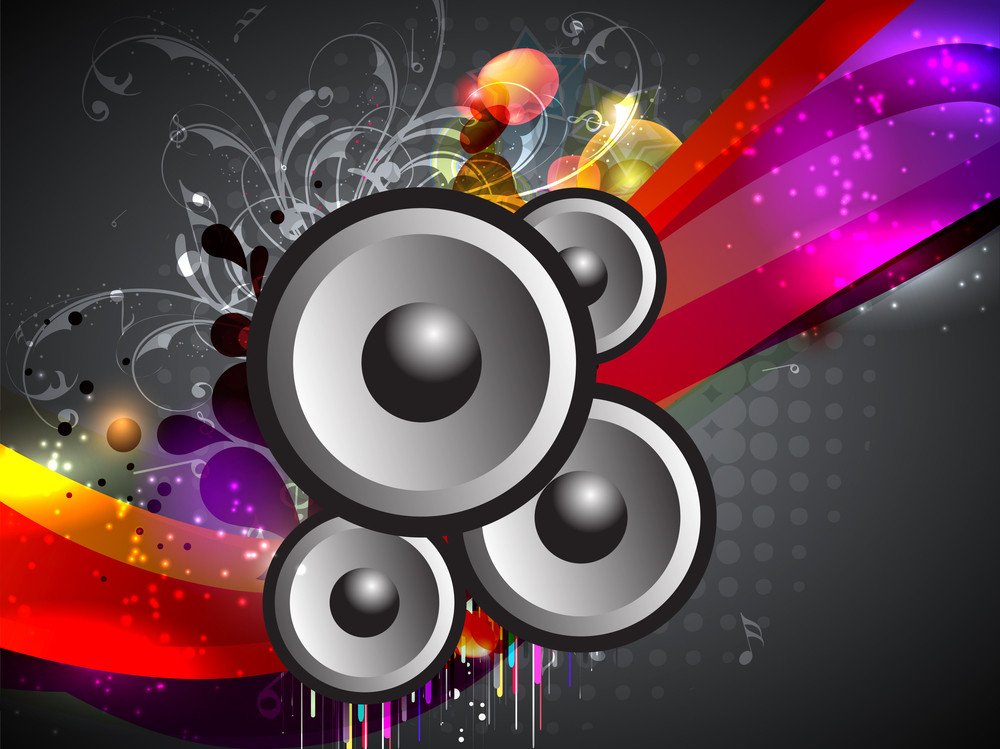 Abstract Music Event  With A Colorful Background.