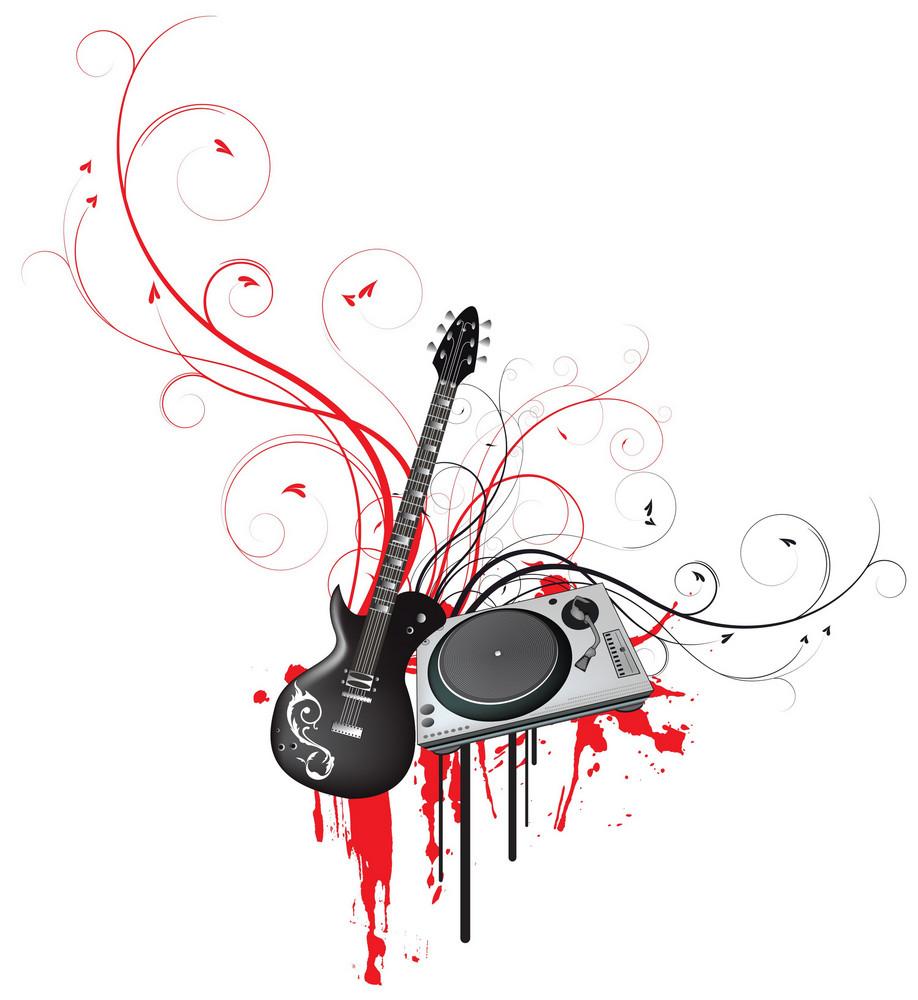 Abstract Music Illustration