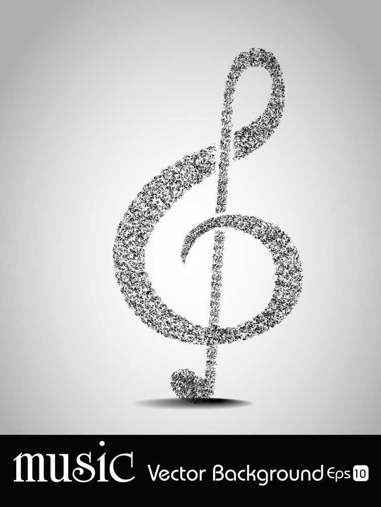 Abstract Music Symbol With Musical Notes Royalty Free Stock Image