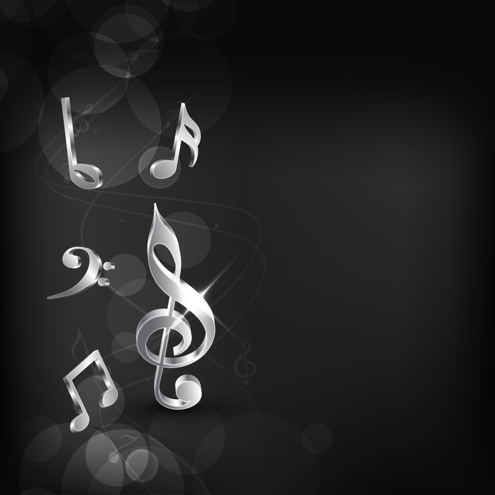 Abstract Musical Note Background