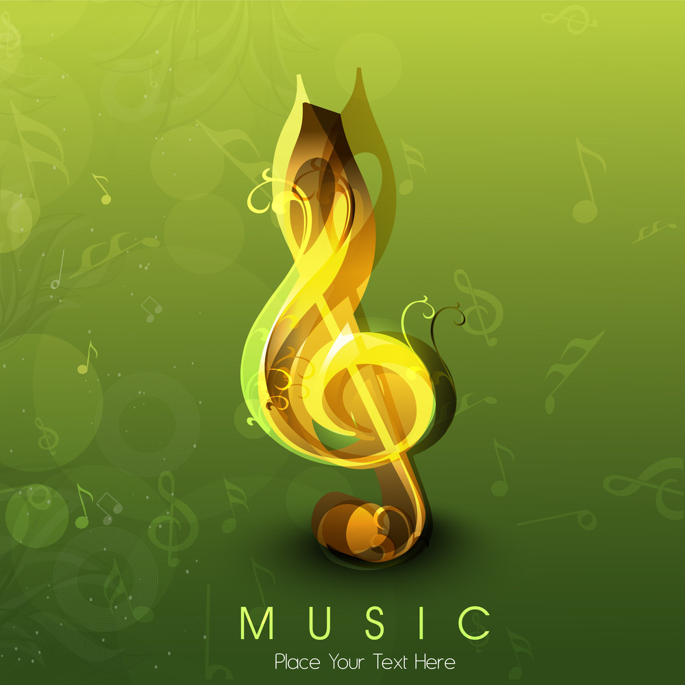 Abstract Musical Note.