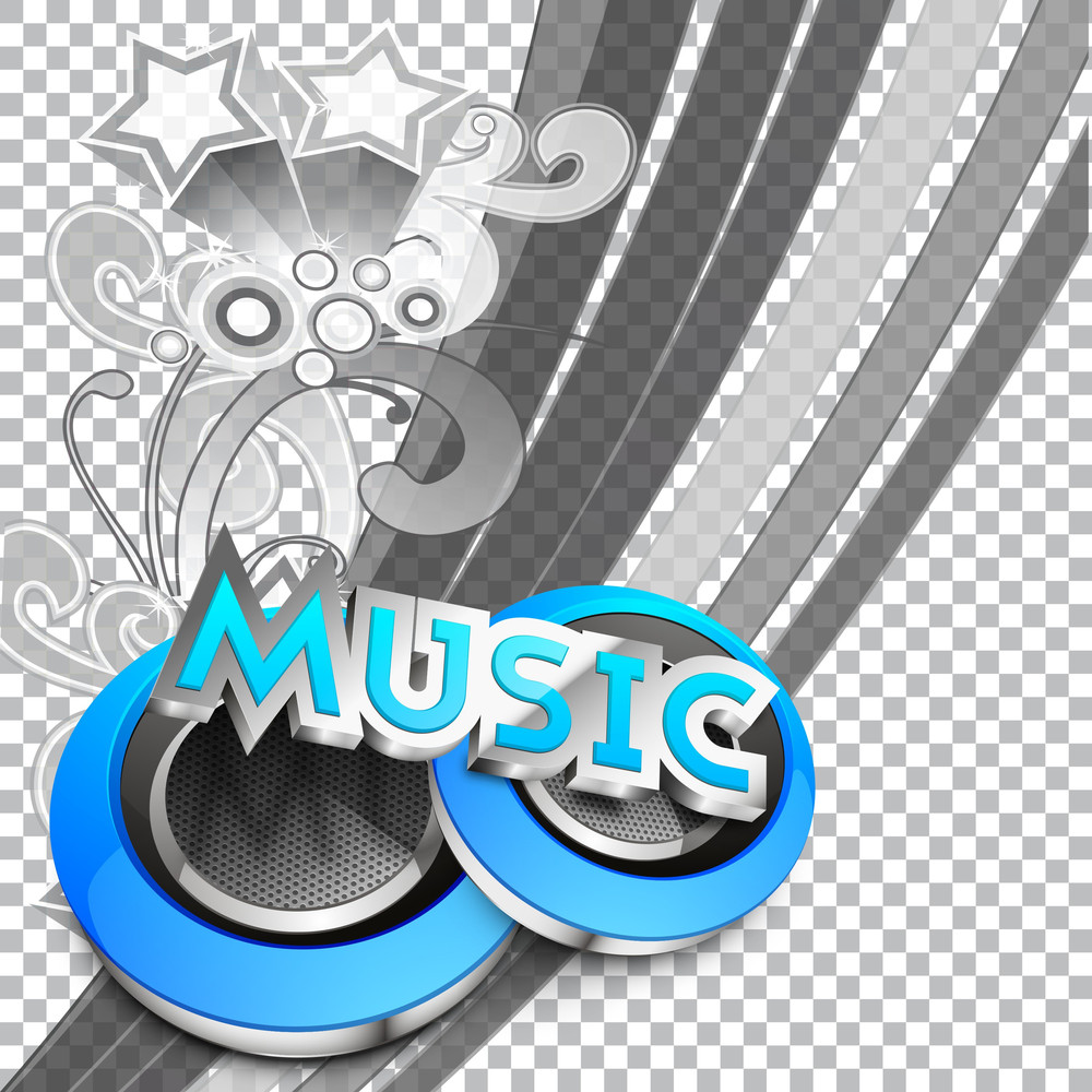 Abstract Musical Party Background Eps 10
