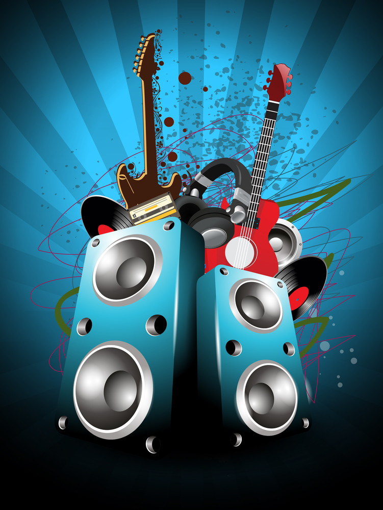 Abstract Musical Party Background.