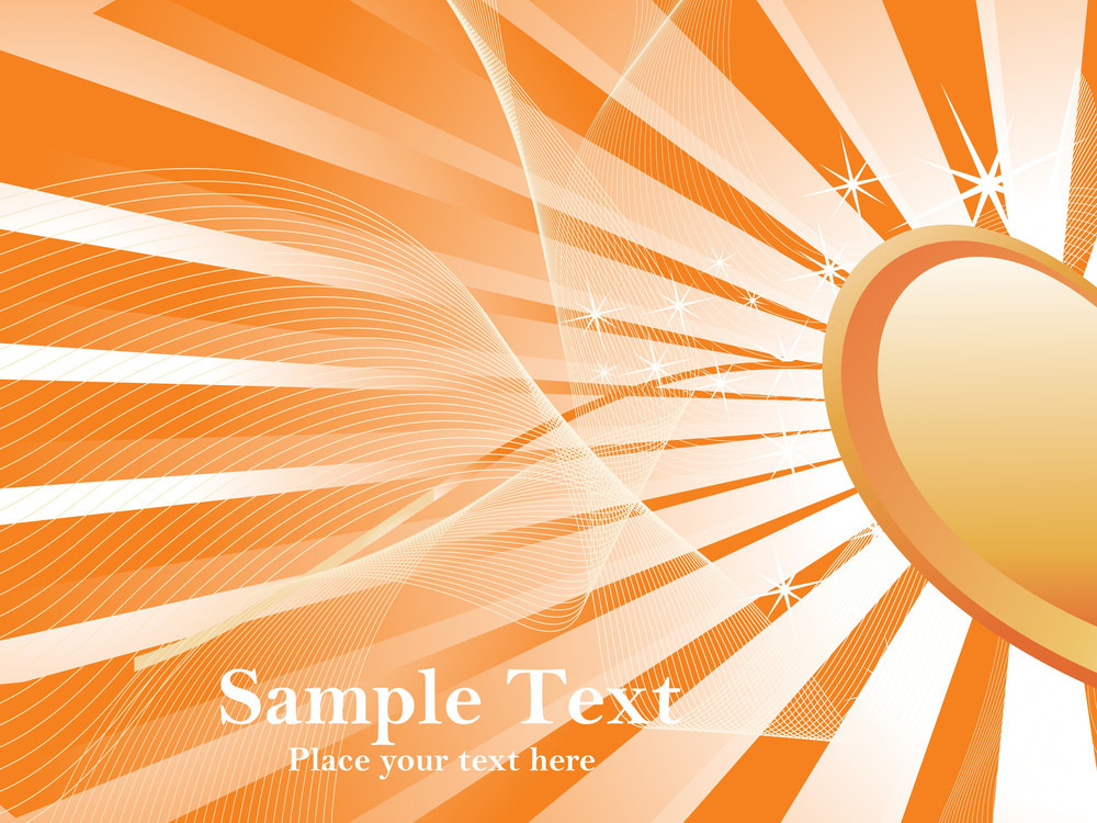 Abstract Mustard Rays Background