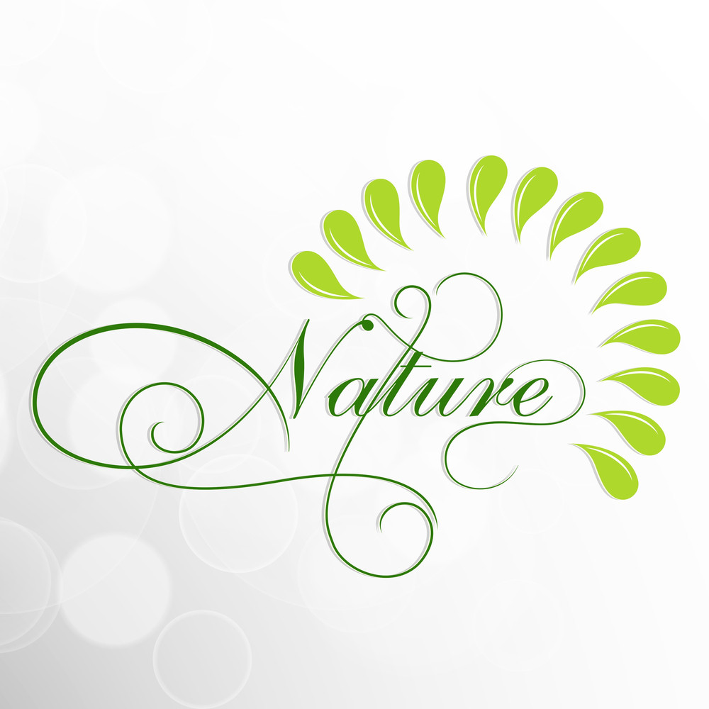Abstract Nature Background With Stylish Text.