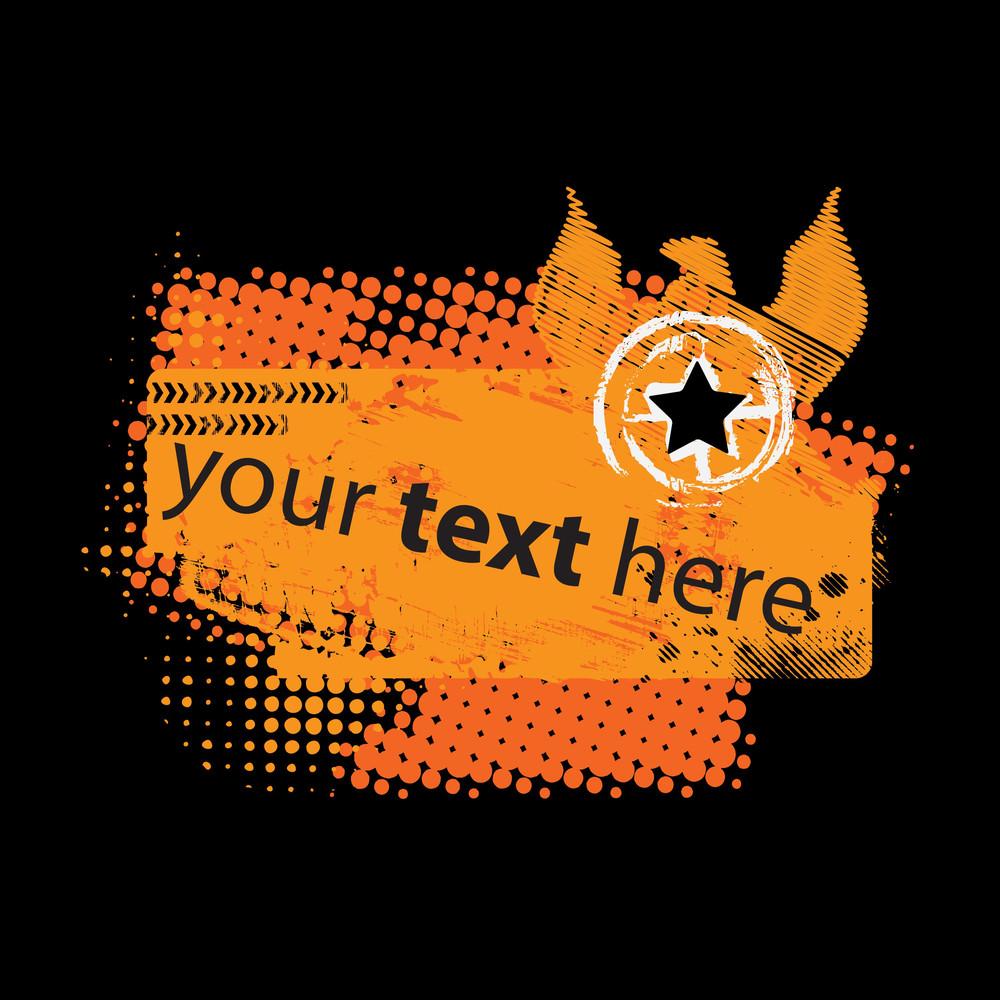 Abstract Orange Grunge Design