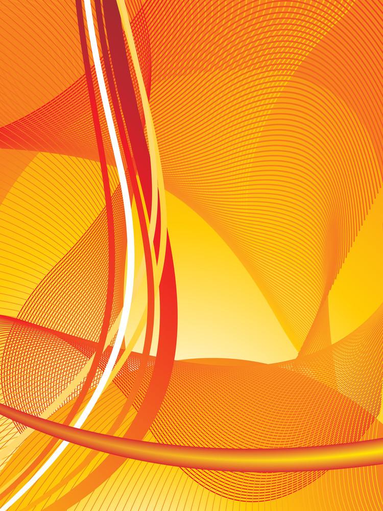 Abstract Orange Lines Design