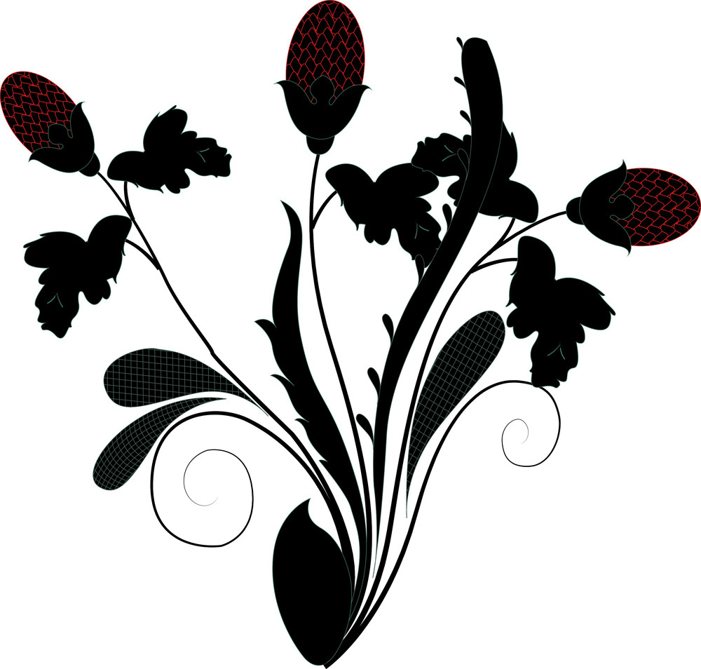 Abstract Organic Floral Shapes