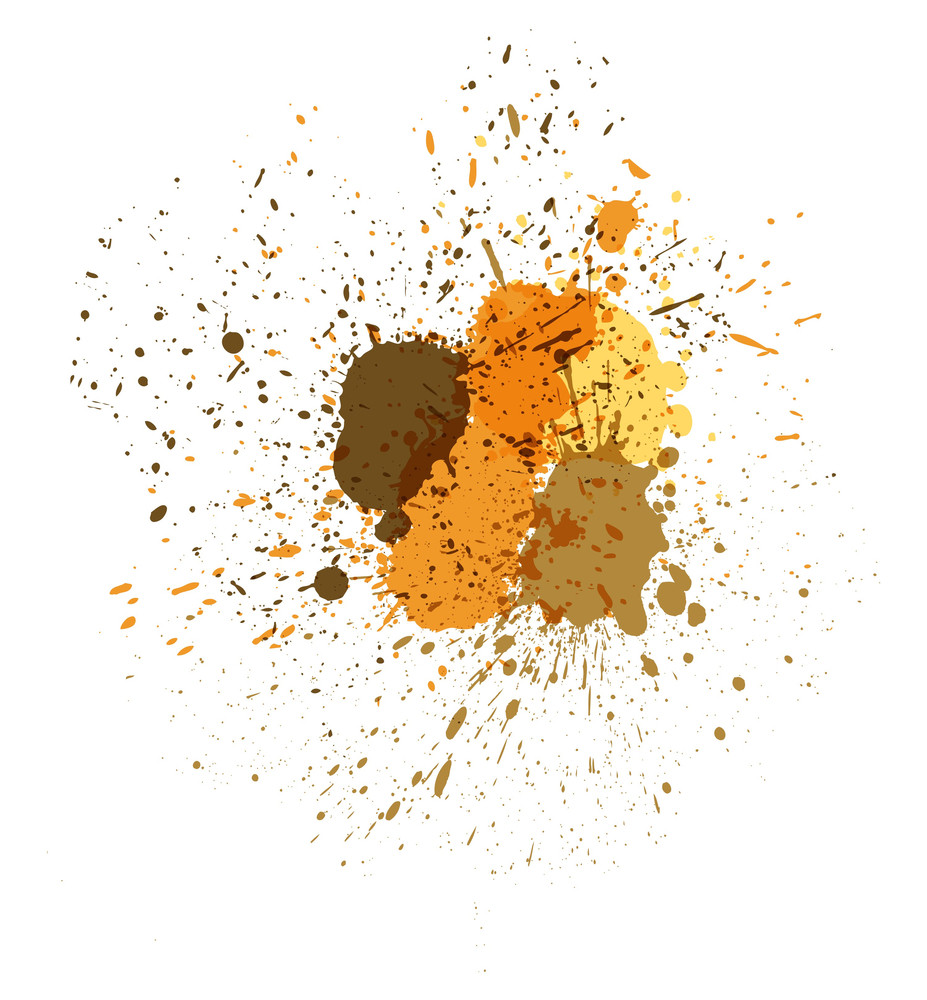 Abstract Paint Drops Backdrop