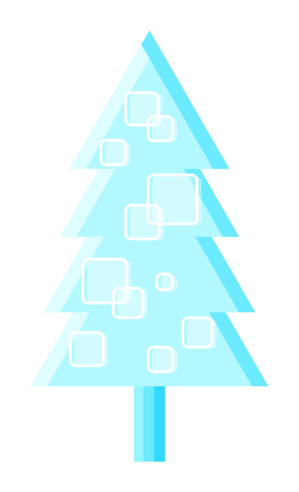 Abstract Pattern Christmas Tree